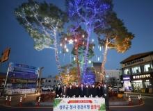 [성주]청사 경관조명 점등식 개최