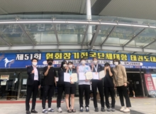 [성주]성주군청 여자태권도 선수단의 연이은 메달 행진